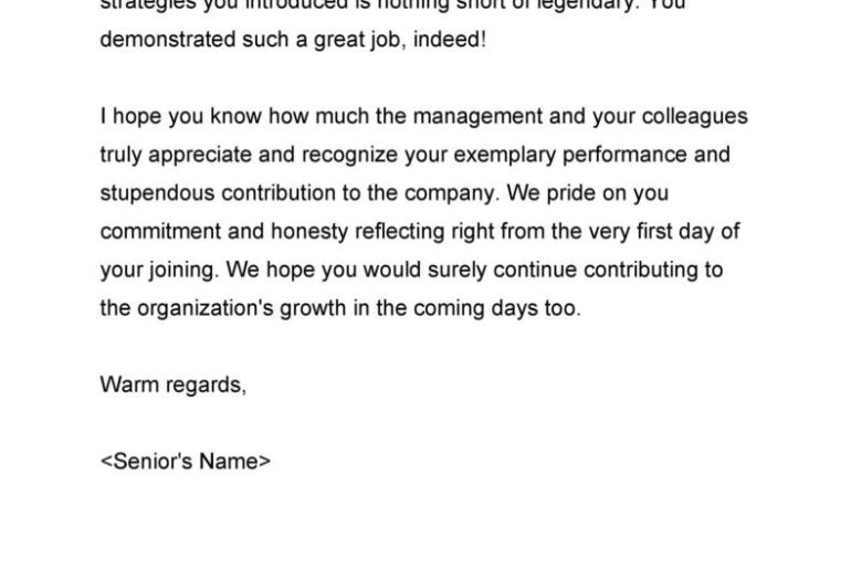 Free Employee Recognition Letter 01